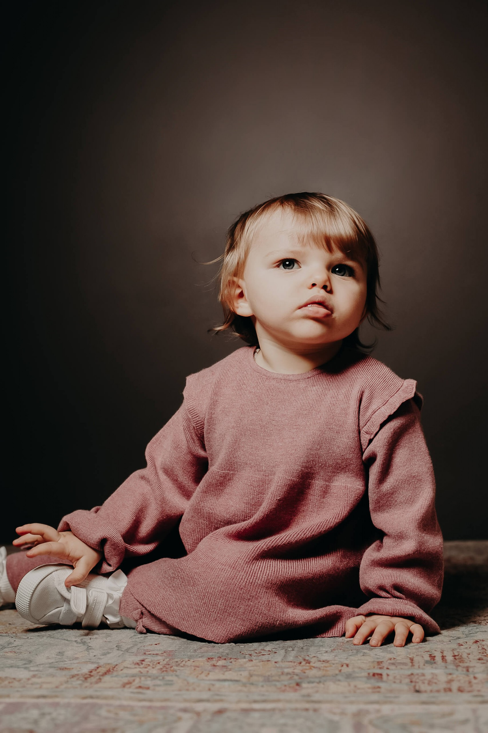 Stunning individual portrait featuring young child.